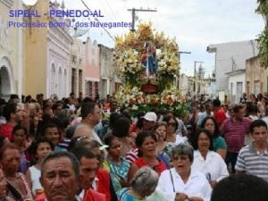 Procissão Terrestre: Sr. Bom Jesus dos Navegantes - Penedo-AL (Brasil).