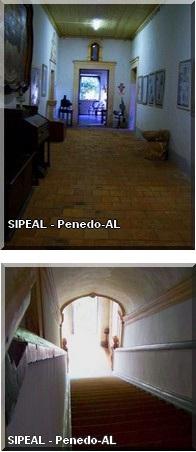 Convento Franciscano de N. Sra dos Anjos - Sala Acervo Histórico e Escadarias - Penedo-AL