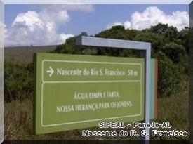 Indicação da Nascente do Rio S. Francisco.