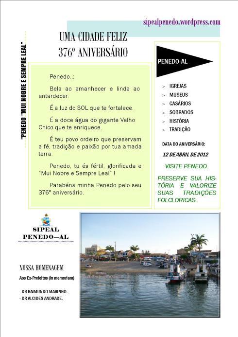 376º aniversários de Penedo-AL