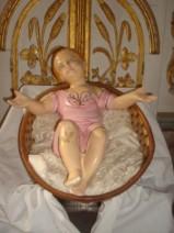 Imagem representando Menino Jesus - Fixada (provisoriamente) no Altar - Theatro/Casa de São Francisco - Penedo/AL (Brasil).