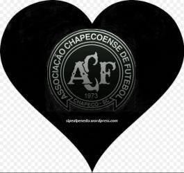 Associação Chapecoense de Futebol - coração-negro-logo - Ano 2016