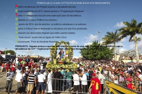 Decadência na Festa de B. J. dos Navegantes - Penedo-AL (Brasil)