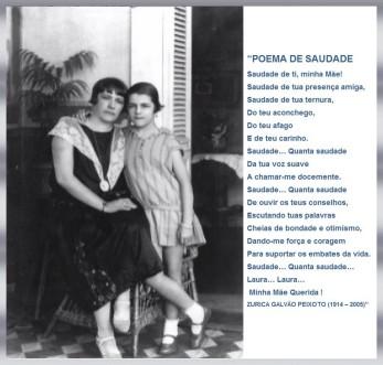 Laura e Zurica G. Peixoto - Interior do Chalé dos Peixotos  - 1925 - Penedo/AL (Brasil).