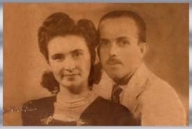 Marina Moura Peixoto 3 (1917 -1975) e Perilo Galvão Peixoto (1913 - 2002) - Ano 1944