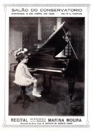 Marina Moura Peixoto - Criança Prodígio - Ano 1923