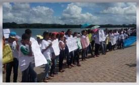 Protesto em Prol Rio S. Francisco - 03Jun2015 - Penedo-AL (Brasil).