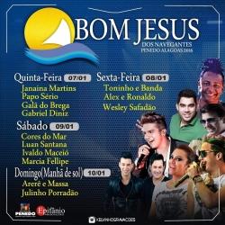 Bom J. dos Navegantes - Programação (profana) 2016 - Penedo/AL (Brasil).
